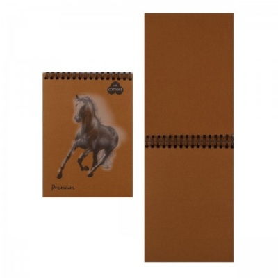 Блокнот А5 30л спир Premium Cinnamon (корица) 160г/м2, 40% хлоп