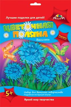 Цветочная поляна Васильки