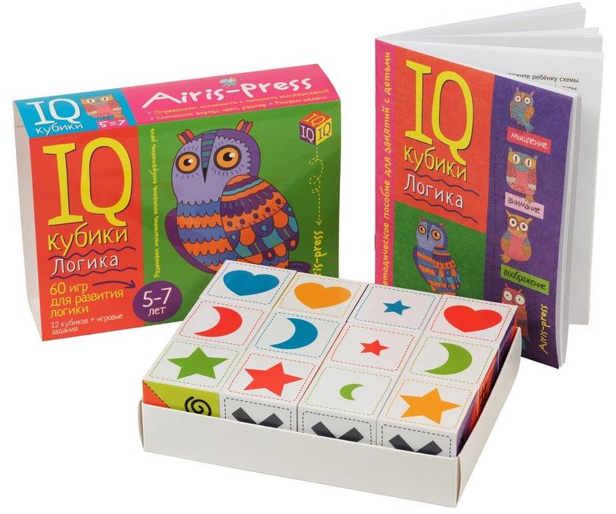 Игра Умные кубики в поддончике 12шт. Логика. 60 игр для развития логики+зад.
