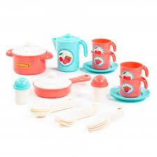 """Набор посуды """"Настенька"""" на 4 персоны со сковородой"""
