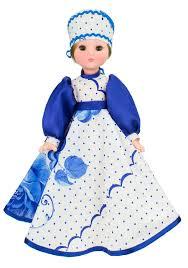 Кукла Василина гжель 45см