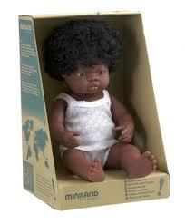 Кукла Пупс Девочка африканка 38см