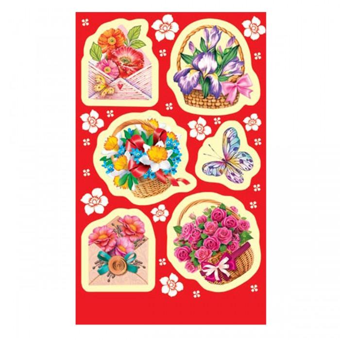Наклейки 0-11-291А цветы в корзинах и конвертах