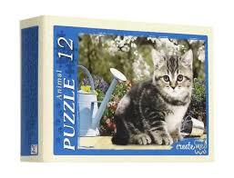 Пазл 12 Забавные котята