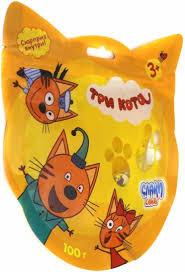Слизь Слайм Три кота в пакете с европодвесом 100 гр, д/б 12 шт.
