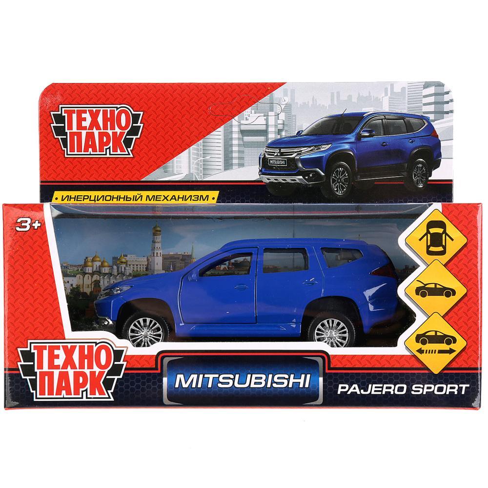 Машина Mitsubishi Pajero Sport 12см, металл, открыв двери, инерц, синий