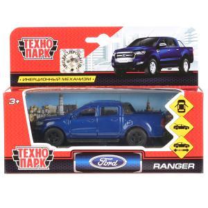 Машина Ford Ranger Пикап синий 12см, металл, открыв. двери, инерц.