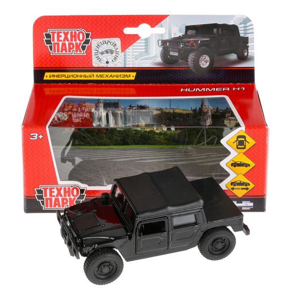 Машина Hummer H1 Пикап черный 12см, открыв. двери, инерц. метал
