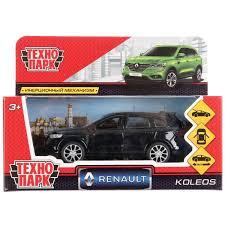 Машина Renault Koleos, длина 12см, открыв. двери, инерц, черный, металл
