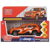 Машина Jeep Grand Cherokee спорт 12см, инерц., оранжевый метал