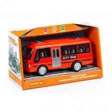 Автомобиль инерционный Городской автобус, свет, звук, 17см