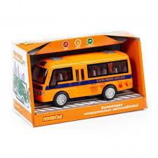 Автомобиль инерционный Школьный автобус, свет, звук, 17см