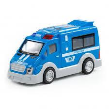 Автомобиль инерционный Полиция, свет, звук, 17см