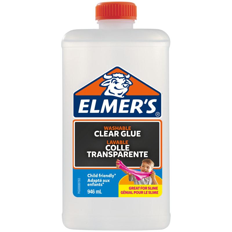 Клей д/слаймов Elmers Clear Glue 946мл для 7-8 слаймов прозрачный