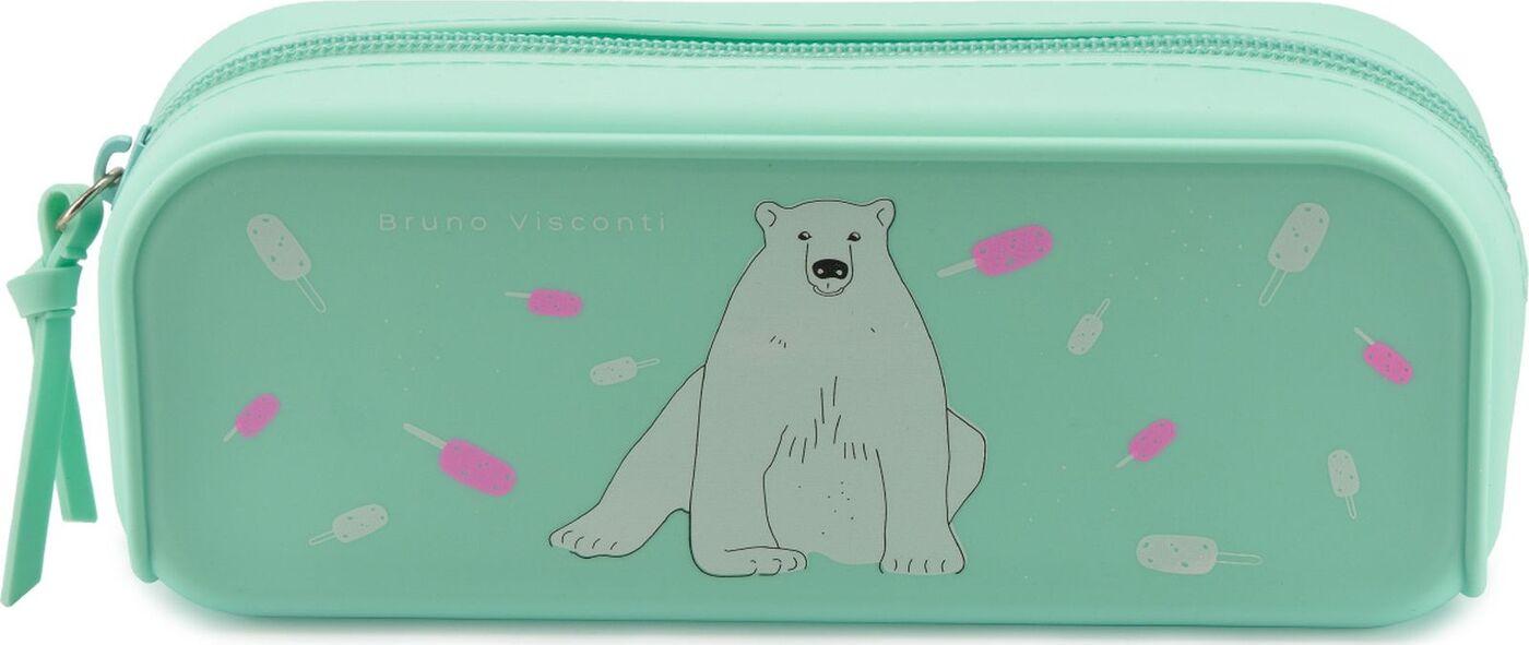 Пенал-косметичка силикон BV White bear and ice cream силикон 180х50х70