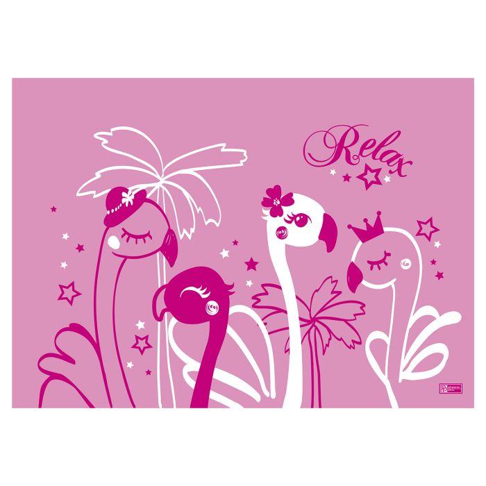 Пленка цветная для уроков труда 50*70 см. Фламинго ПВХ
