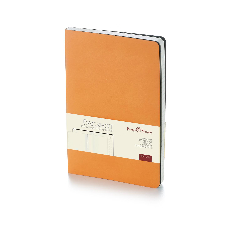 Блокнот А5 200л BV Megapolis Flex оранжевый