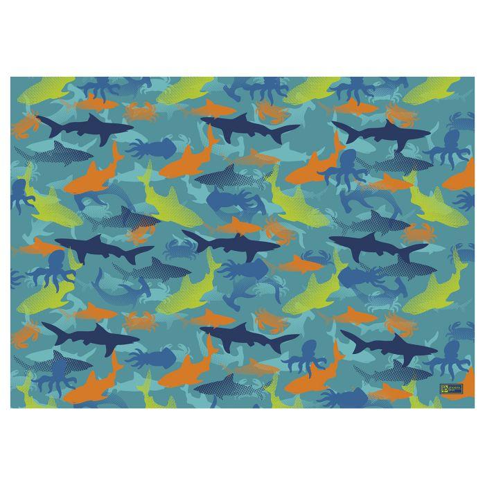 Пленка цветная для уроков труда 50*70 см. Акулы ПВХ