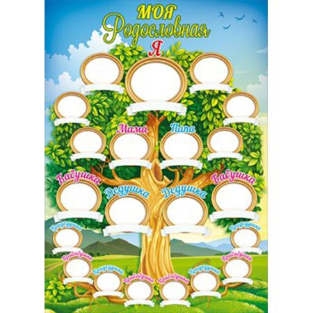 Плакат Моя родословная А4 Дерево