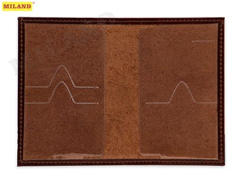 Обложка для паспорта Miland натур.кожа Бэлла коричневая