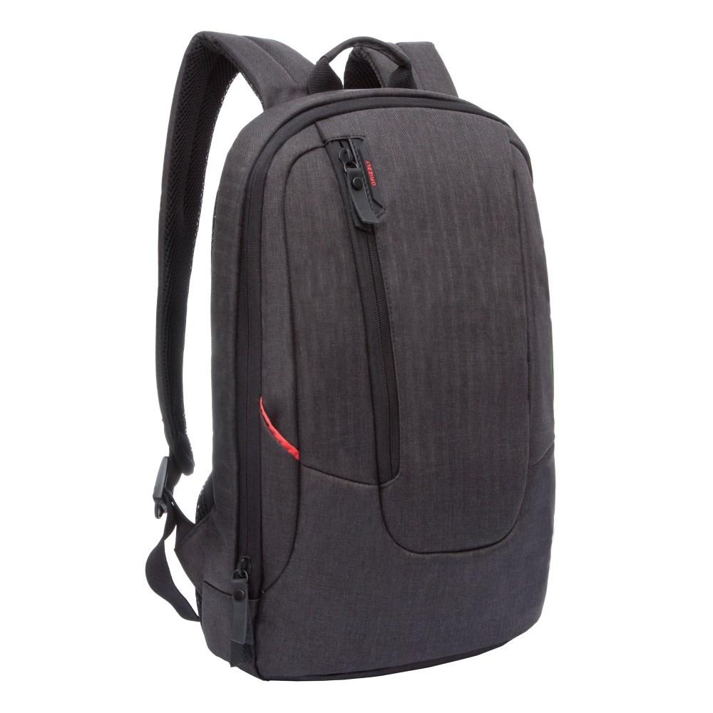 Рюкзак молодежный Grizzly (черный - красный)