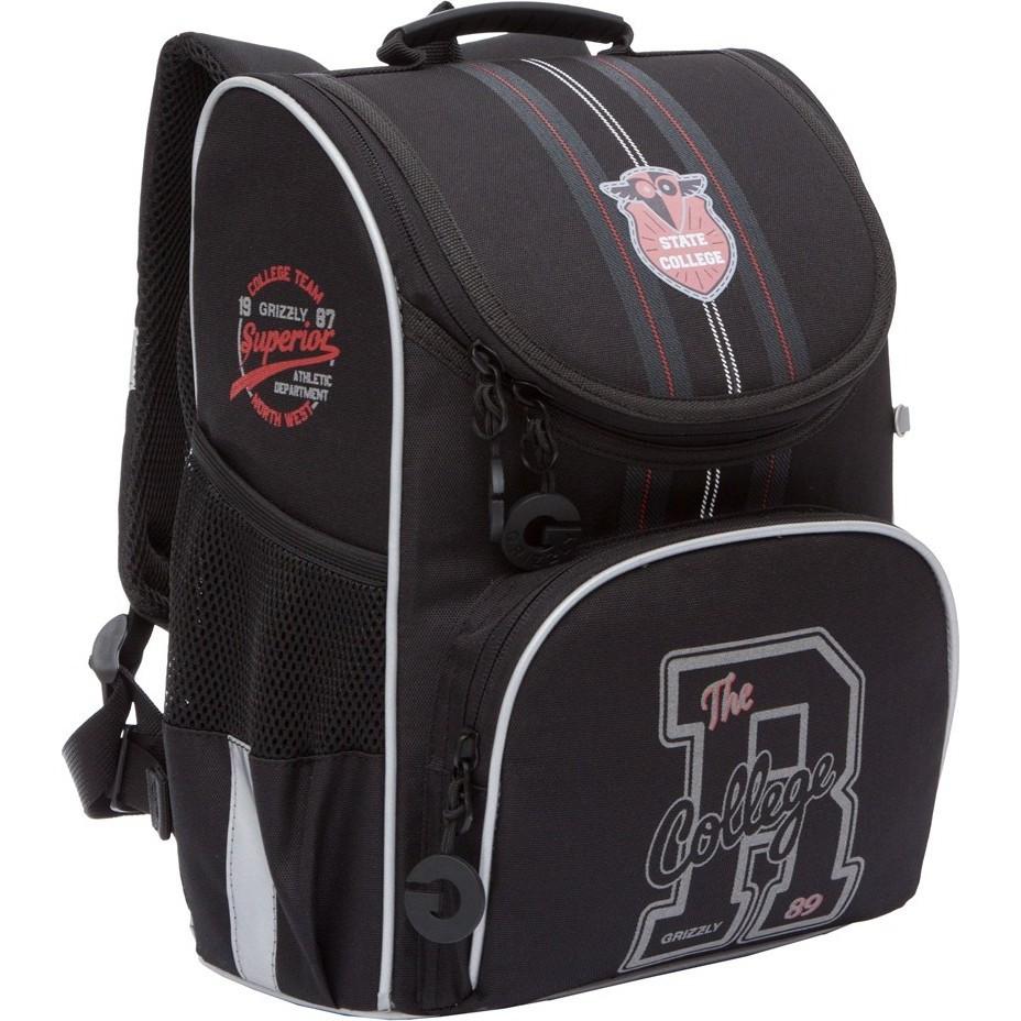 Ранец Grizzly The R College с мешком (черный)