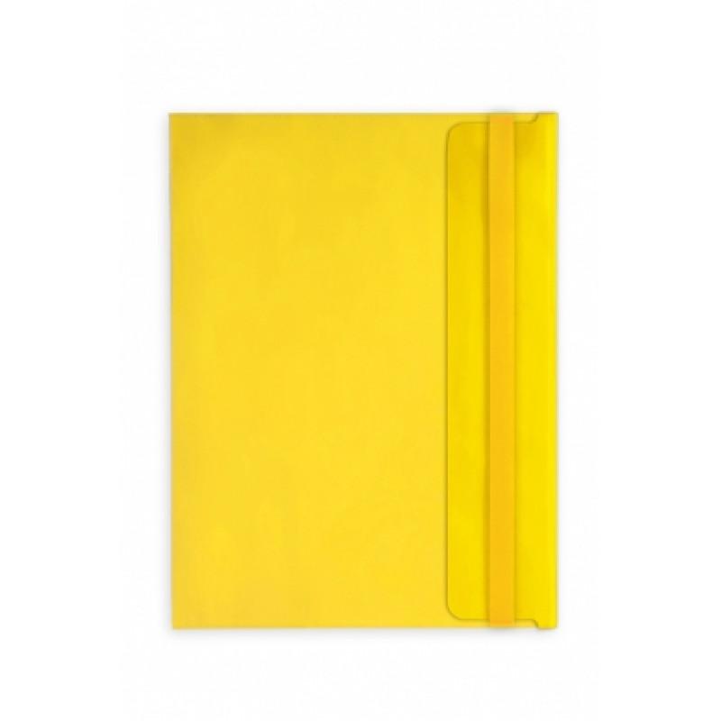 Папка-конверт А4 Berlingo с клапаном желтая горизонт