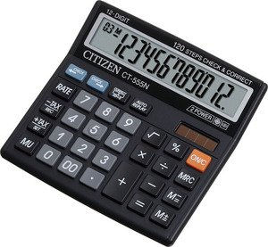 Калькулятор 12 разр. CITIZEN 130*128*34мм черный