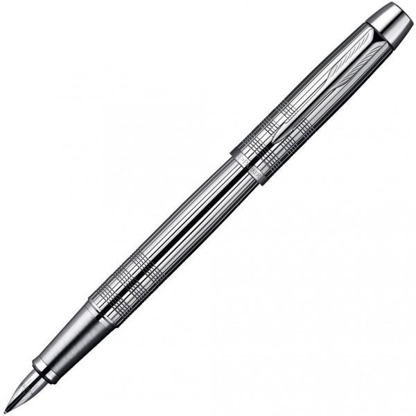Ручка подар. Parker IM Premium Shiny Chrome корпус хром перьевая
