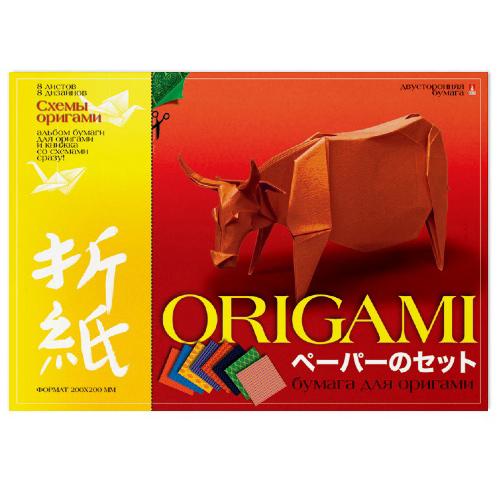 Бумага для оригами А4 8л Вид 4 со схемами