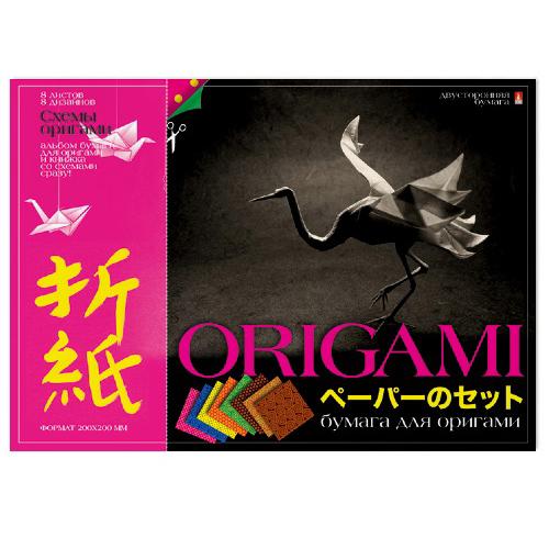 Бумага для оригами А4 8л Вид 1 со схемами