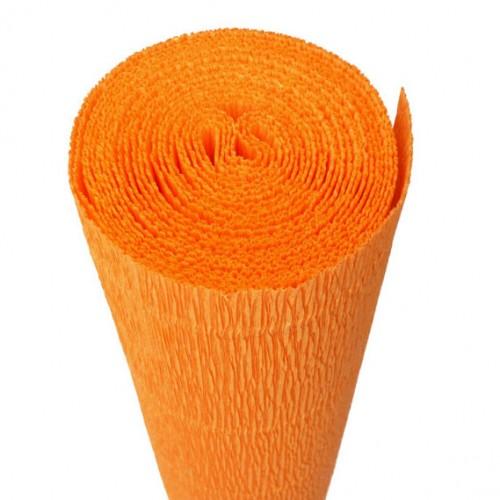 Бумага гофрированная 50*250 оранжевая