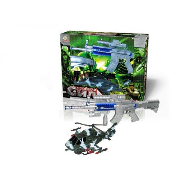 Игрушка радиоуправляемая Вертолет и/к пульт в виде автомата