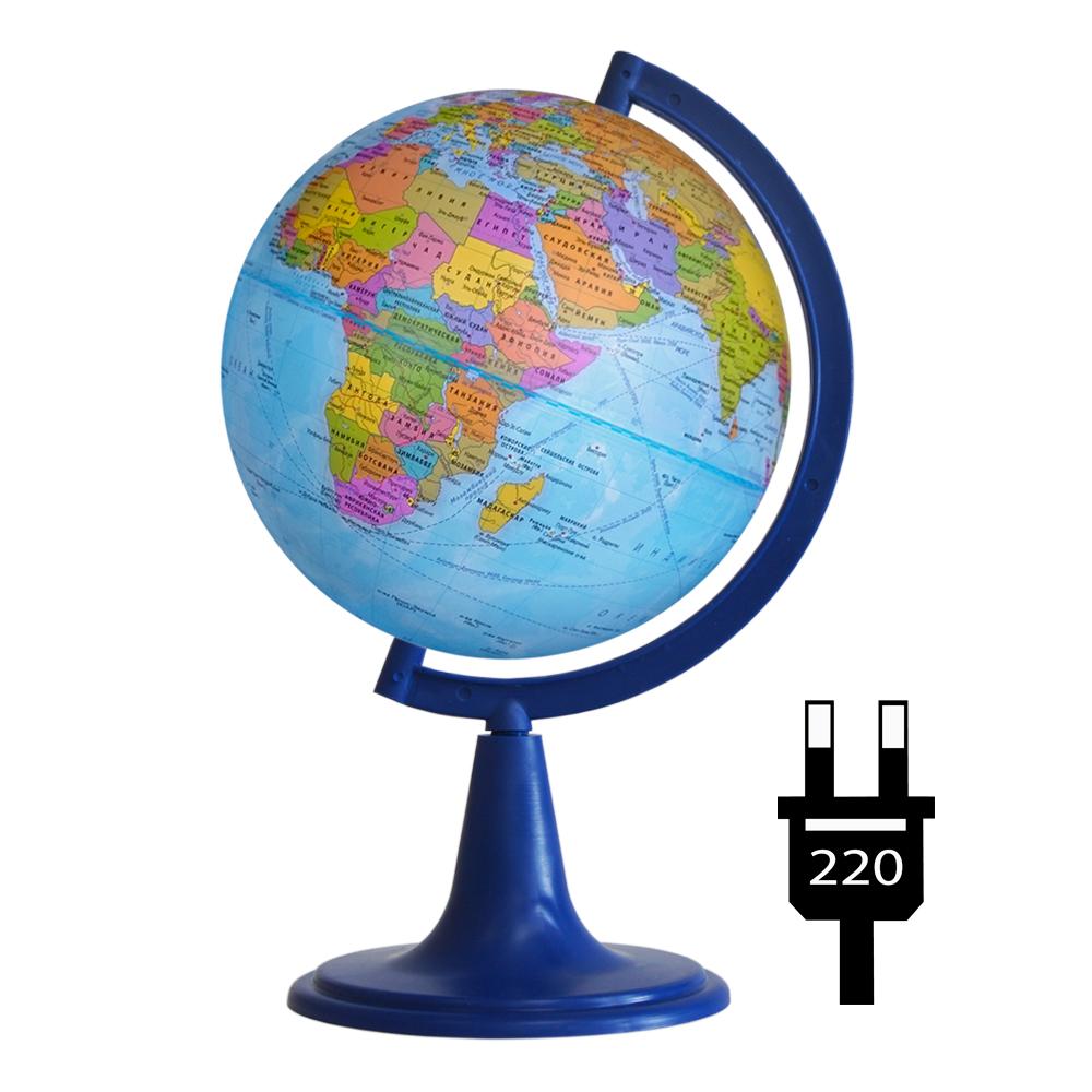 Глобус d-15 политический с подсветкой 1:84 000 000