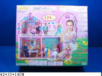 АКЦИЯ19 Игр набор Дом для кукол Дол Хауз с лошадью и каретой 124 пр.