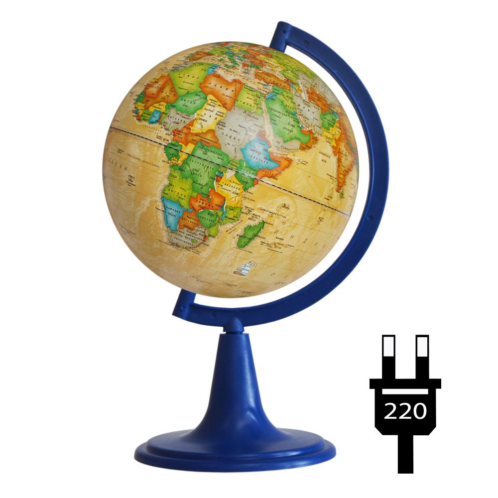 Глобус d-15 политический с подсветкой Ретро-Александр 1:84 000 000