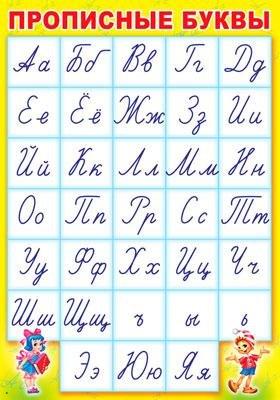 Плакат Прописные буквы А3 вертик.