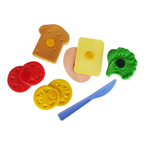 АКЦИЯ19 Игрушка пластмассовая Набор продуктов Бутерброд