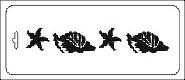 Трафарет 10*25 Морской мотив