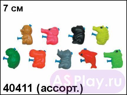 АКЦИЯ19 Игрушка пластмассовая Брызгалка Зоопарк 7 см