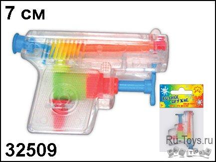 АКЦИЯ19 Игрушка пластмассовая Пистолет водный Забава 7 см