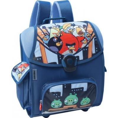АКЦИЯ20% Канц Рюкзак Angry Birds ортопедический синий с замком