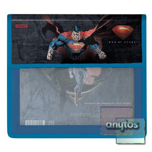 Папка для тетрадей А5 Proff Супермен 2 отд на липучке