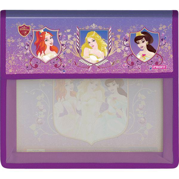 Папка для тетрадей А5 Proff Волшебные принцессы 2отд на липучке