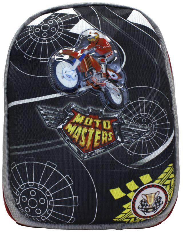 Рюкзак Alliance ортопедический Moto Masters черн.-св.сер.