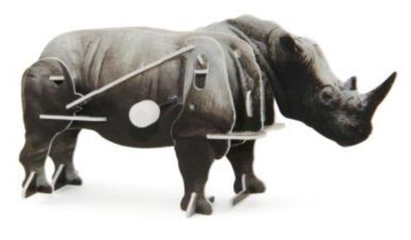 Конструктор 3D-пазл Африканский носорог с заводным механизмом