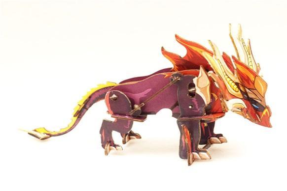 Конструктор 3D-пазл Огненный Монстр с заводным механизмом
