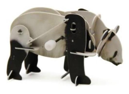 Конструктор 3D-пазл Большая панда с заводным механизмом