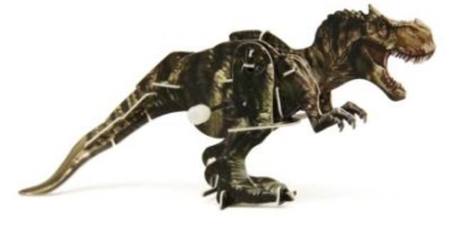 Конструктор 3D-пазл Тираннозавр с заводным механизмом