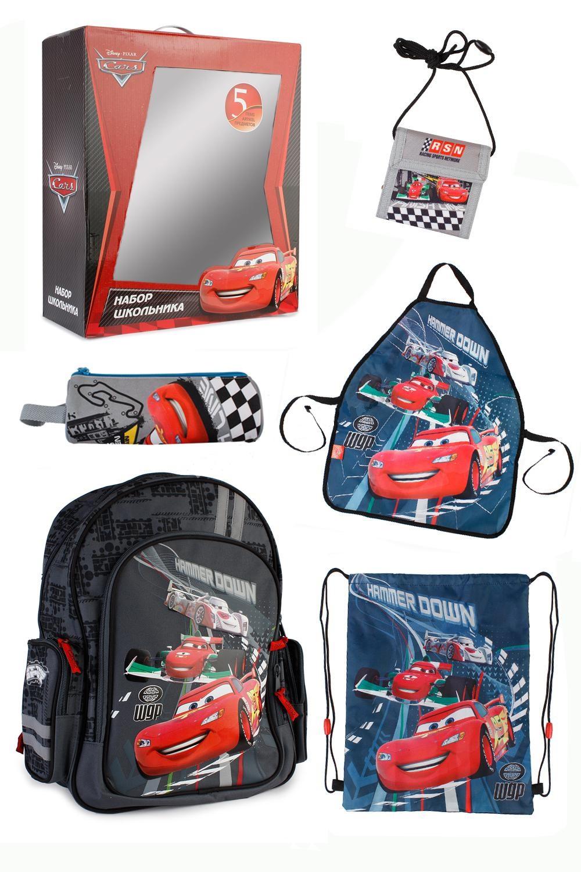 Набор школьника Cars (Рюкзак + 4 предмета)